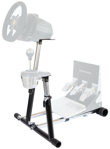 Wheel Stand Pro SuperTX Deluxe Steering Wheel Stand with RGS and GTS options Thrustmaster T-GT, T300RS, TX Leather, T150/T150 Pro, TMX/TMX Pro, TX458 Original Wheel Stand Pro Stand V2. Wheel and Pedals Not included