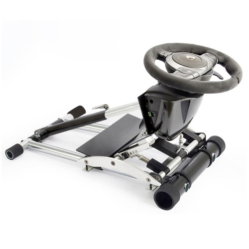 X REFURBISHED  Wheel Stand Pro CSL GT2 Racing Steering Wheelstand Compatible With Fanatec CSL/CSL Elite Wheel and Pedals/CSP/CSP V2/V3,GT2/GT3RS, CSR/CSR Elite CSP/CSR/CSR Elite Pedals. V2 Deluxe  - Black. Wheel & Pedals Not included
