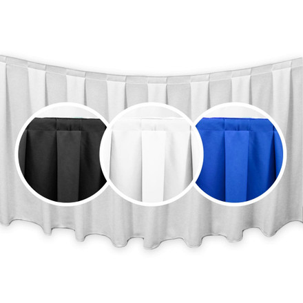 SimplyPoly Box Pleat Table Skirting