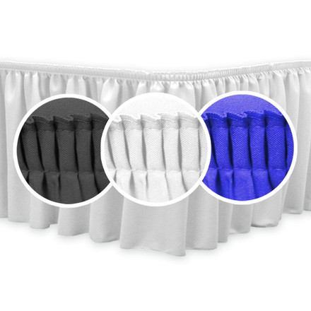 SimplyPoly Shirred Pleat Table Skirting