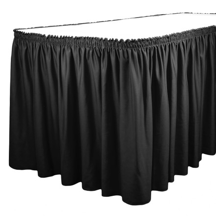 Standard Shirred Pleat Table Skirting