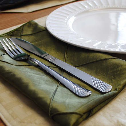 Pintuck Taffeta Cloth Napkins