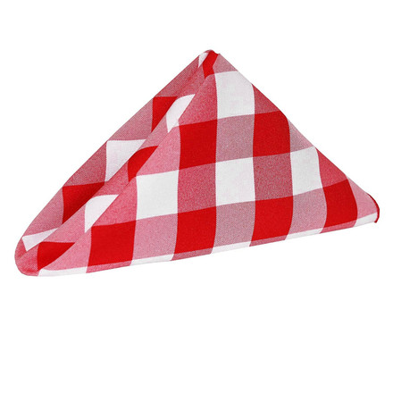 Polyester Check Cloth Napkins