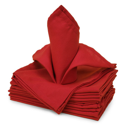 Oversized 20 in. Square Hemmed Polyester Cloth Napkins