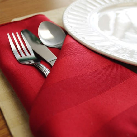 Polyester Stripe Cloth Napkins