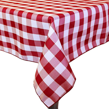 Square Polyester Check Tablecloths