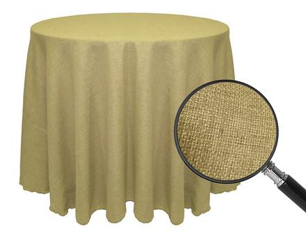 Round Havana Faux Burlap Tablecloths