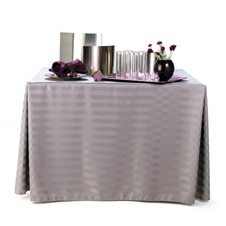 Rectangular Polyester Stripe Tablecloths