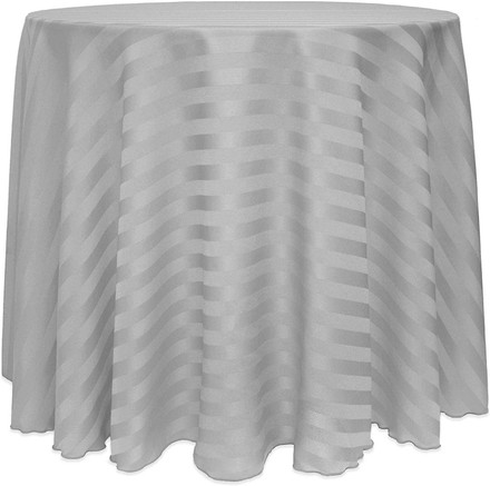 Round Polyester Stripe Tablecloths