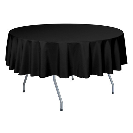 Round Basic Polyester Tablecloths