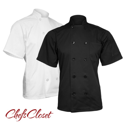 ChefsCloset Short Sleeve 10 Button Chef Coat