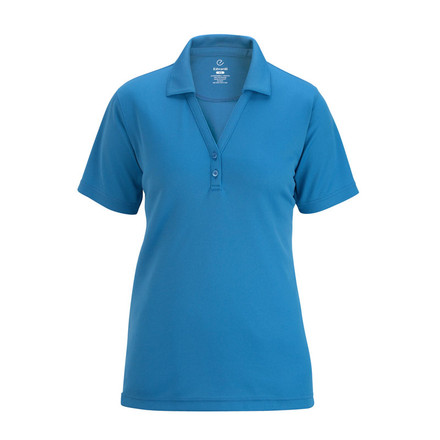 Ladies Johnny Collar Mesh Polo by Edwards