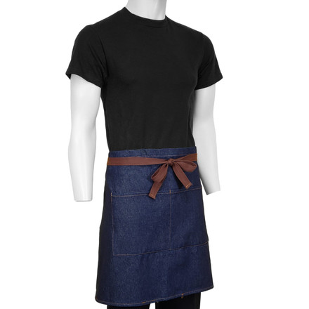 ChefsCloset Denim Allentown Half Bistro Apron  2 Pockets