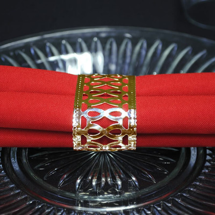 Oval Hourglass Napkin Rings