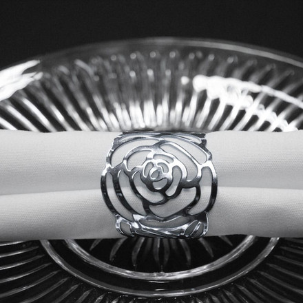 Rose Pattern Napkin Rings