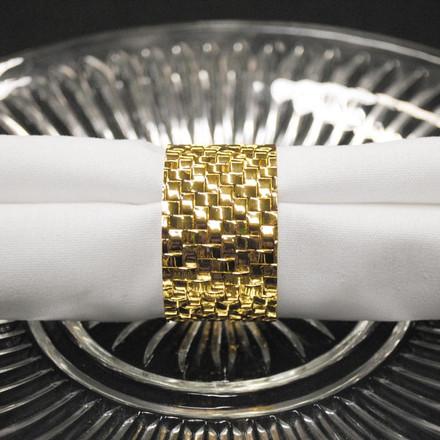 Basket Weave Napkin Rings