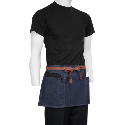 ChefsCloset Denim Allentown Waist Apron, 3 Pockets