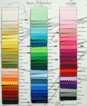 Basic Polyester Swatch Card