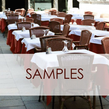 SimplyPoly Table Linen Samples