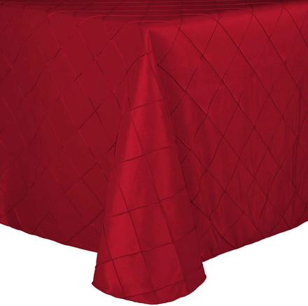 Oval Pintuck Taffeta Tablecloths