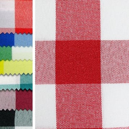 Polyester Check Table Runners