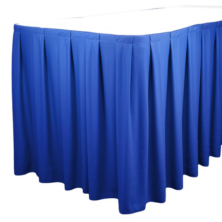 Royal Blue 13 ft. SimplyPoly Box Pleat Table Skirting