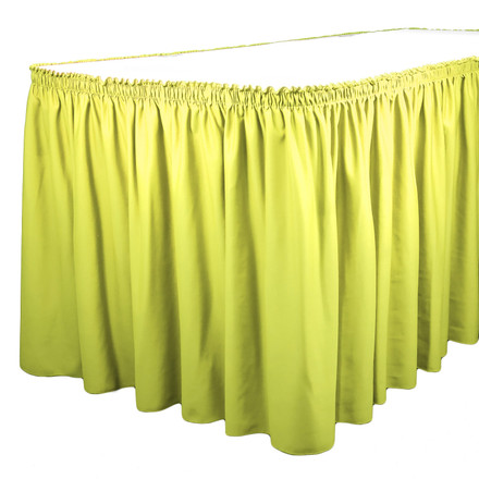 Green Apple 21 ft. SimplyPoly Shirred Pleat Table Skirting