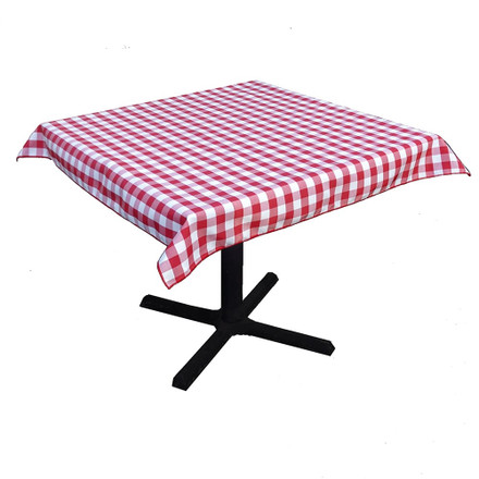 Red & White Check 45 in. Square SimplyPoly Tablecloths