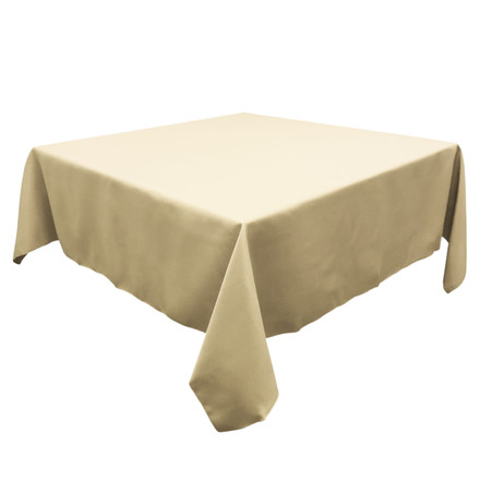 Sand 90 in. Square SimplyPoly Tablecloths