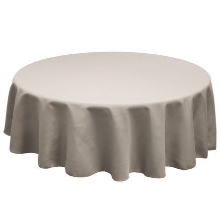 Charcoal 132 in. Round SimplyPoly Tablecloths