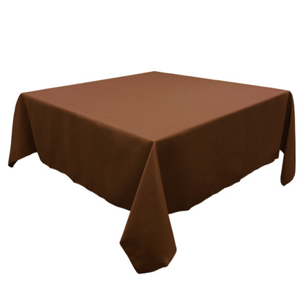 Chocolate 54 in. Square SimplyPoly Tablecloths