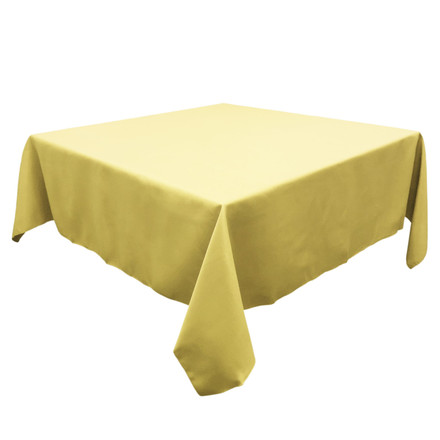 Butter 54 in. Square SimplyPoly Tablecloths