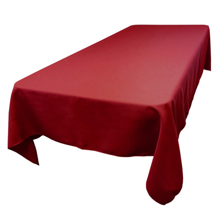 Cherry Red 60 x 120 in. Rectangular SimplyPoly Tablecloths