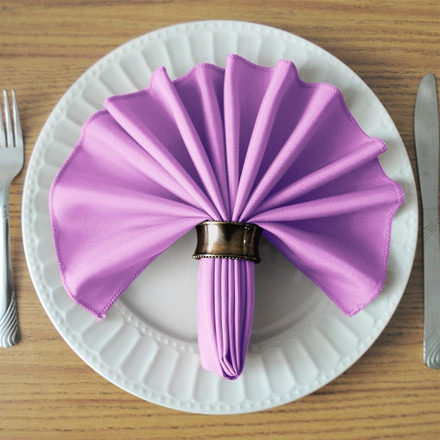 Lavender SimplyPoly Cloth Napkins