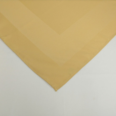 Gold 54 in Square Overstock Premium Satin Band Tablecloth