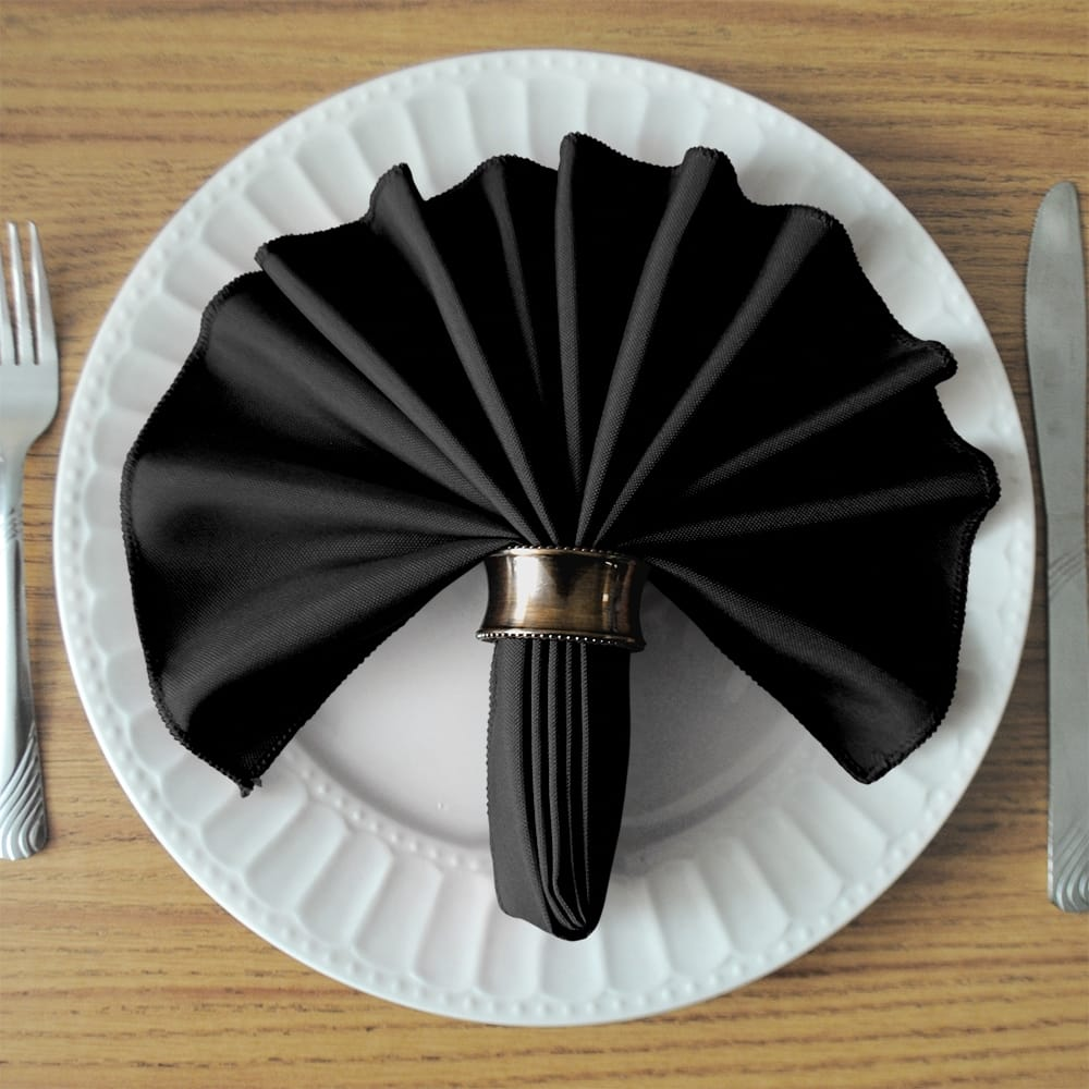Black SimplyPoly Cloth Napkins
