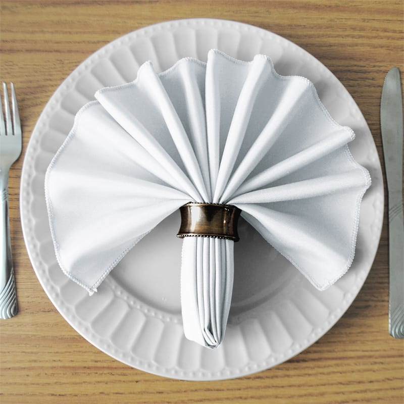 White SimplyPoly Cloth Napkins