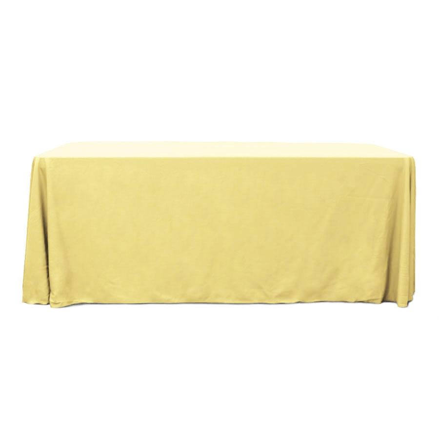 Butter 6 ft. Floor Length Rectangular SimplyPoly Tablecloths