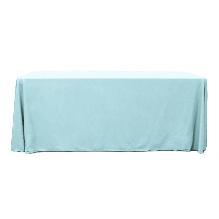 Baby Blue 6 ft. Floor Length  Rectangular SimplyPoly Tablecloths