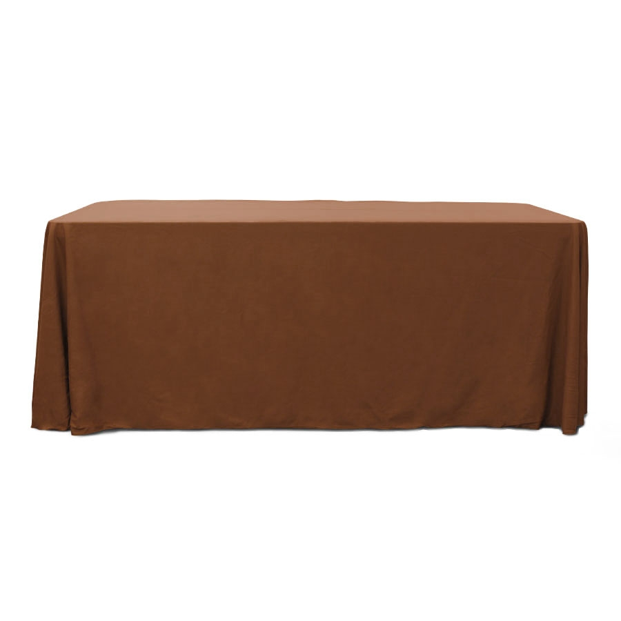 Chocolate 6 ft. Floor Length  Rectangular SimplyPoly Tablecloths