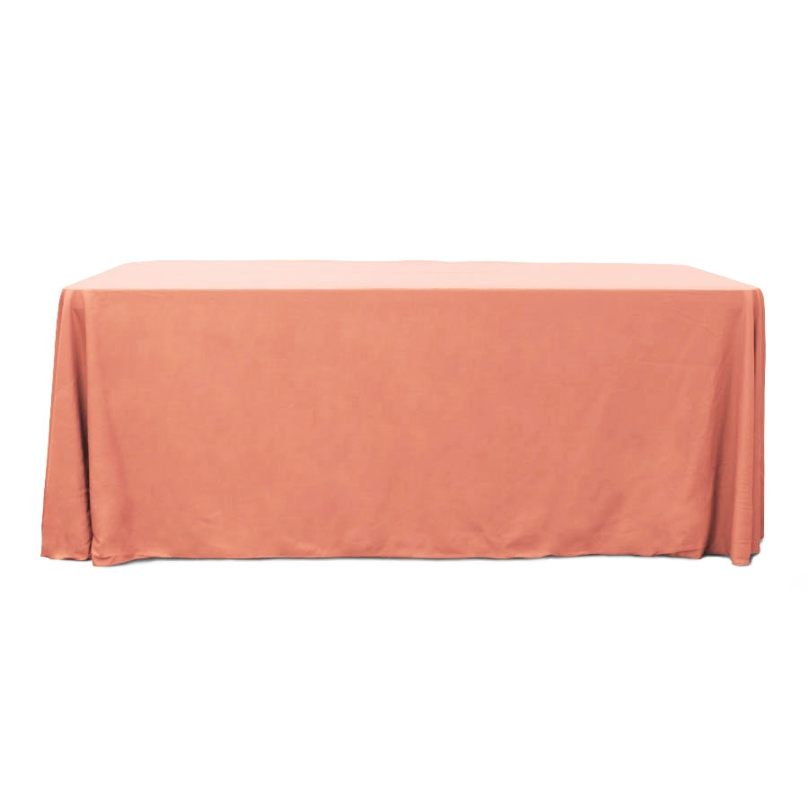 Coral 6 ft. Floor Length Rectangular SimplyPoly Tablecloths