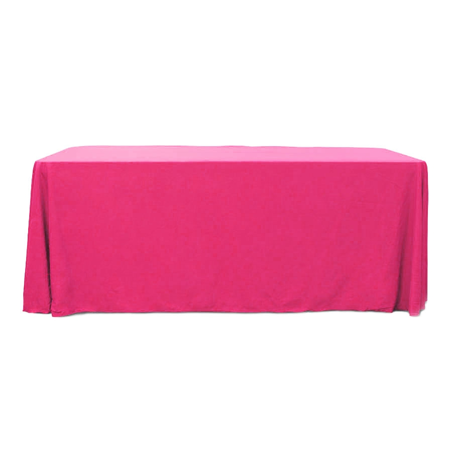 Fuchsia 6 ft. Floor Length  Rectangular SimplyPoly Tablecloths