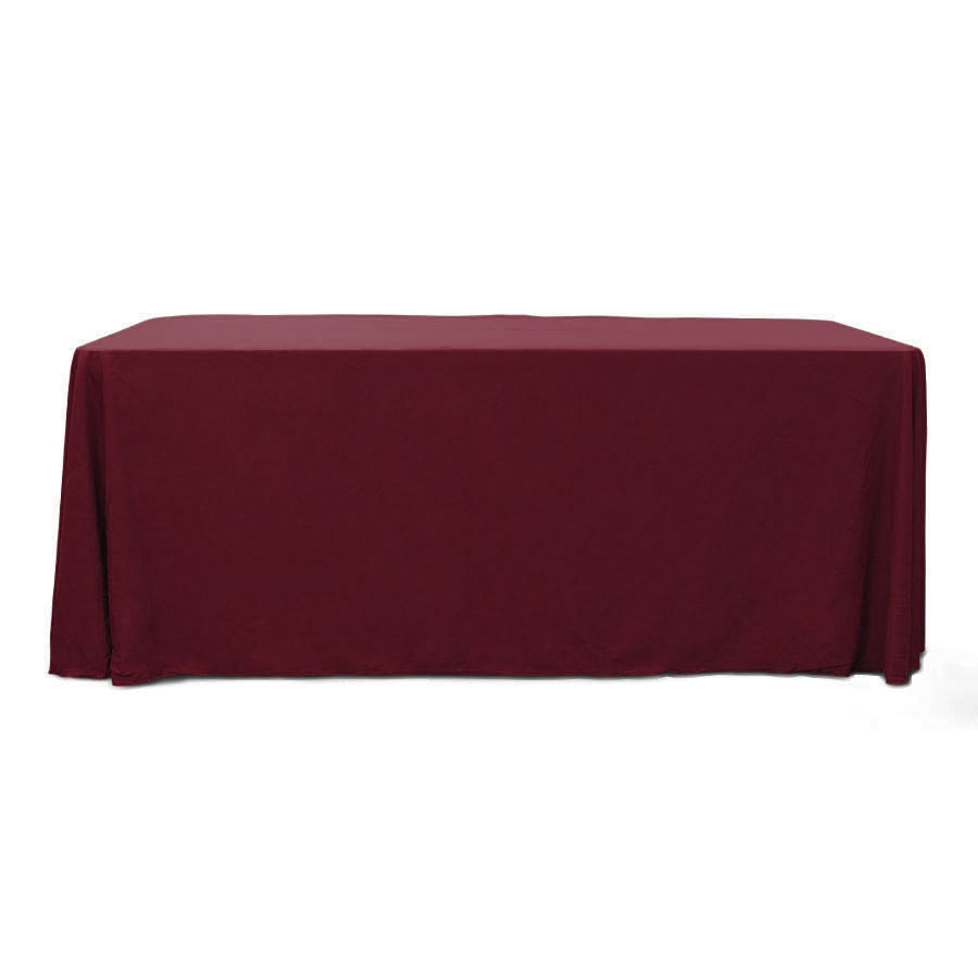 Burgundy 6 ft. Floor Length  Rectangular SimplyPoly Tablecloths