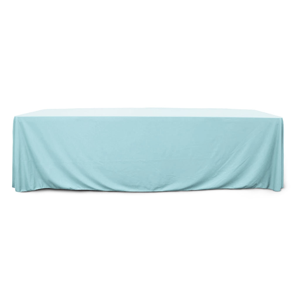Baby Blue 8 ft. Floor Length  Rectangular SimplyPoly Tablecloths