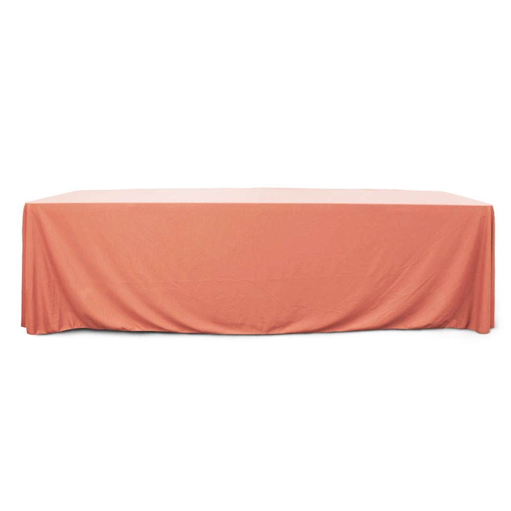 Coral 8 ft. Floor Length  Rectangular SimplyPoly Tablecloths