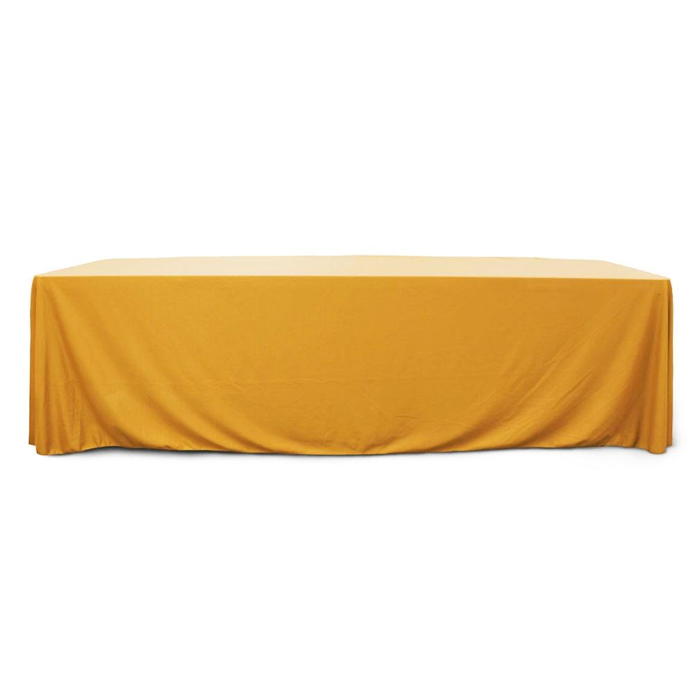 Gold 8 ft. Floor Length  Rectangular SimplyPoly Tablecloths