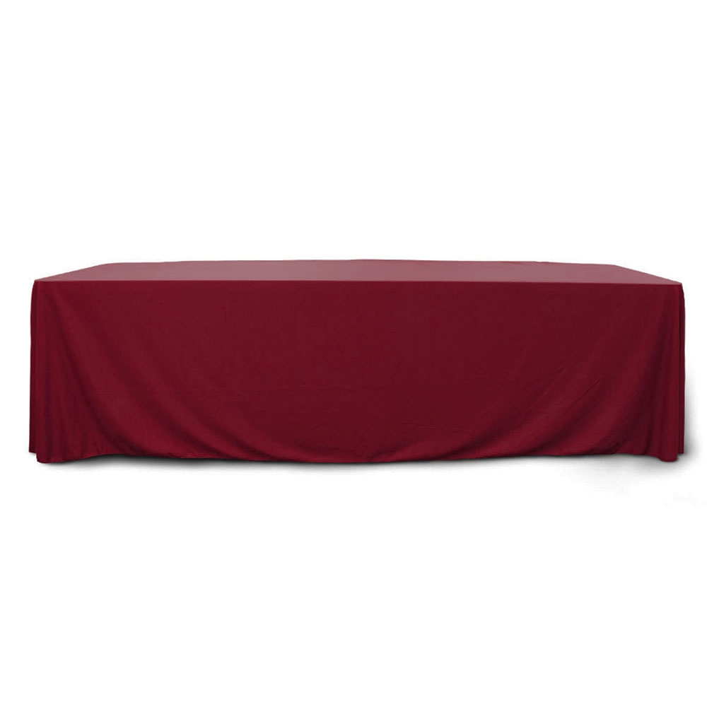 Maroon 8 ft. Floor Length  Rectangular SimplyPoly Tablecloths