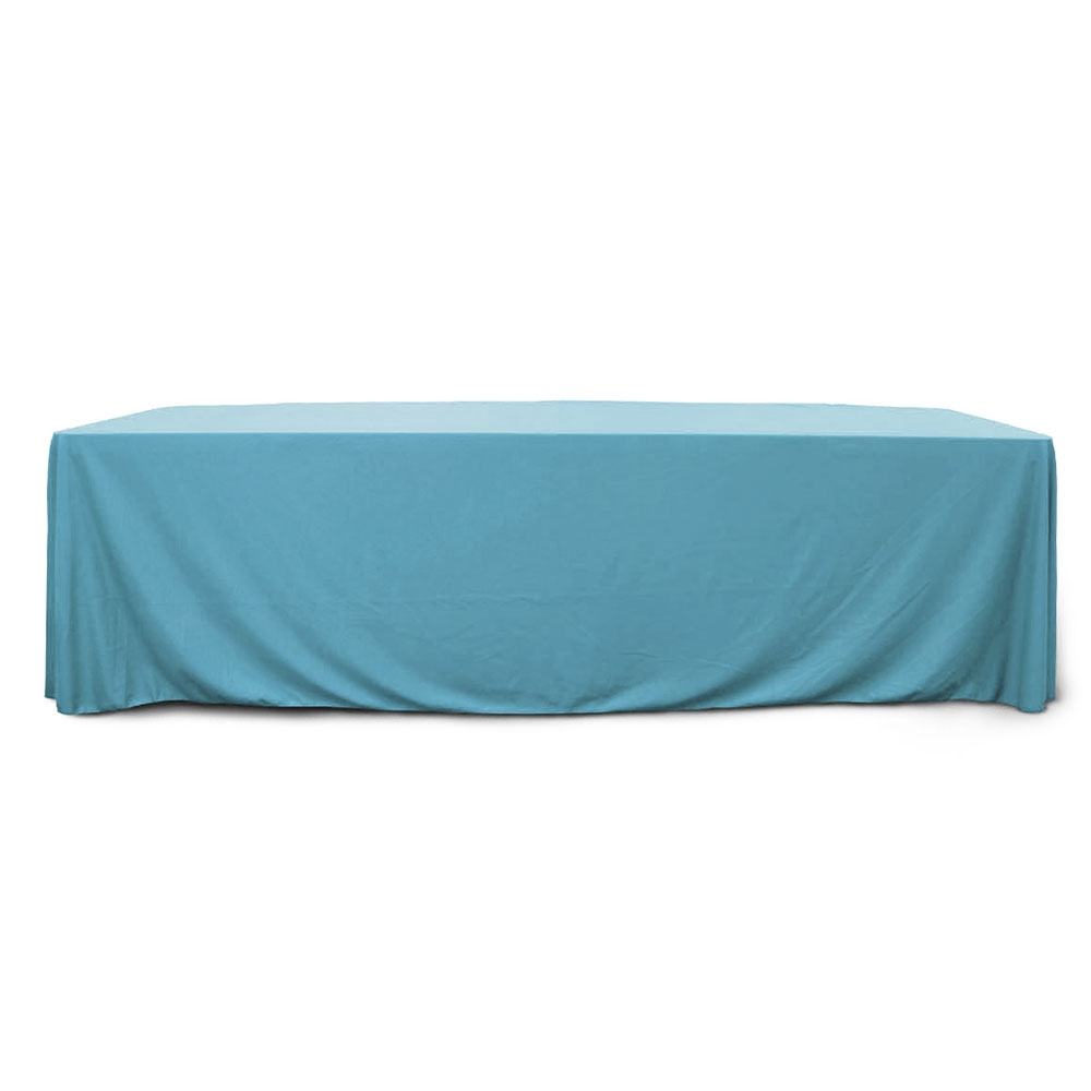 Sky Blue 8 ft. Floor Length  Rectangular SimplyPoly Tablecloths
