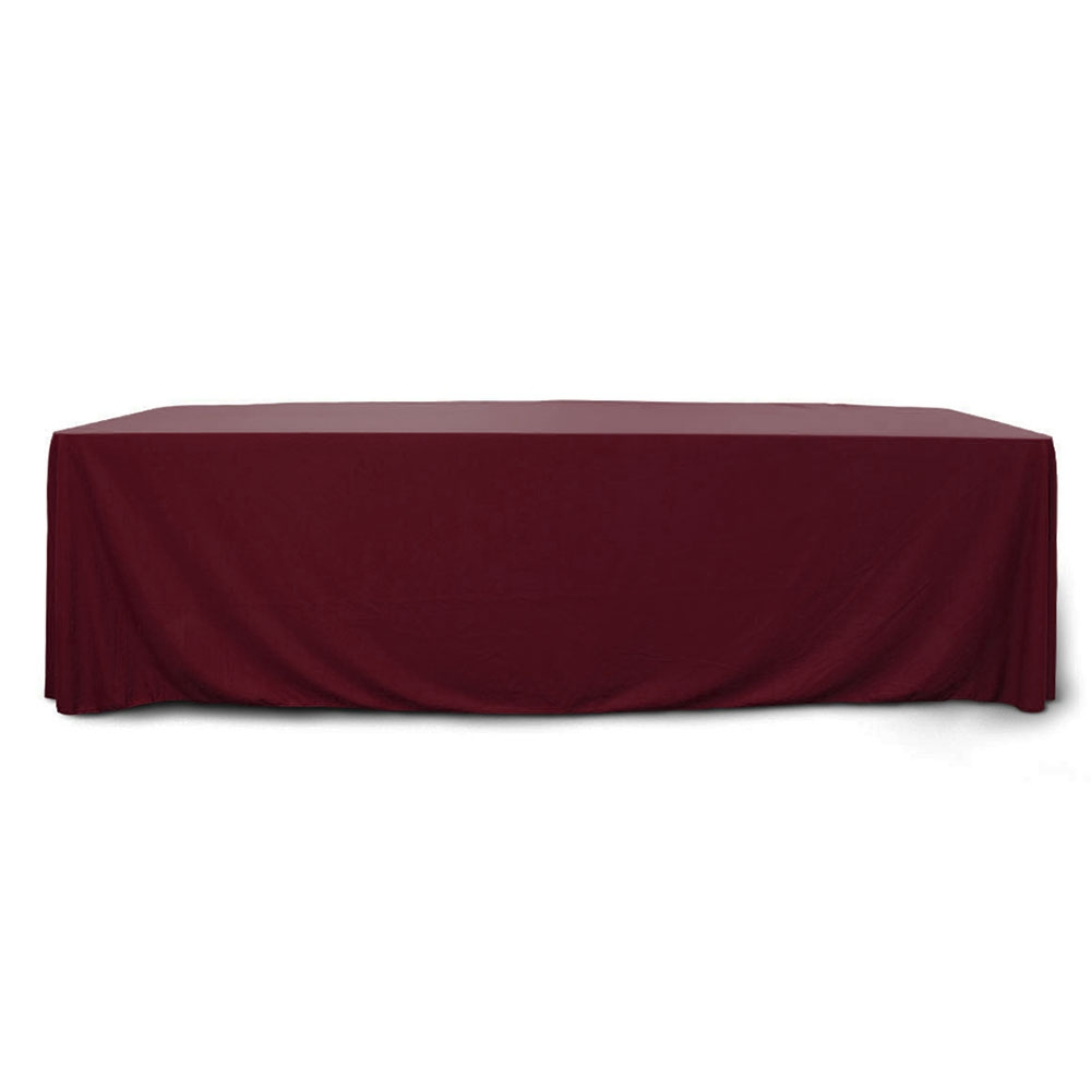 Burgundy 8 ft. Floor Length Rectangular SimplyPoly Tablecloths