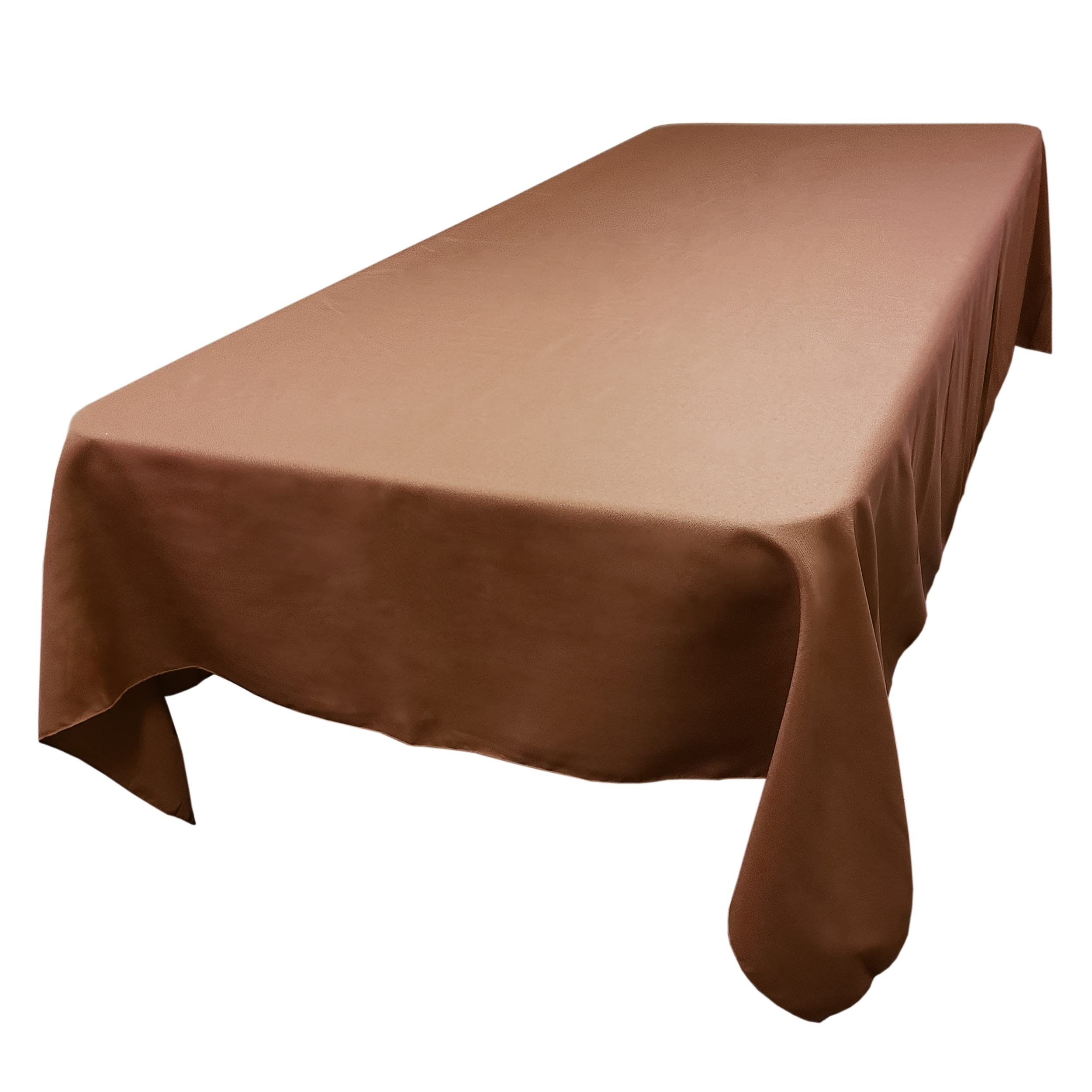 Chocolate 72 x 108 in.  Rectangular SimplyPoly Tablecloths